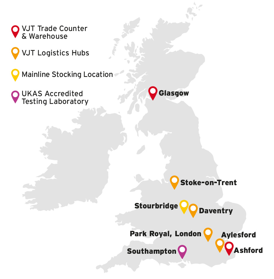 VJT and Mainline locations